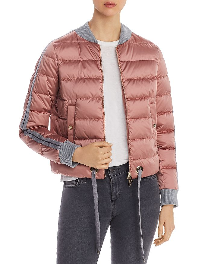Herno - Sequin-Trimmed Down Bomber Jacket - 100% Exclusive