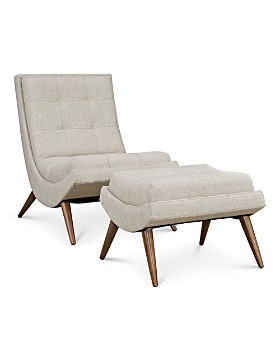 Modway - Ramp Upholstered Fabric Lounge Chair Set