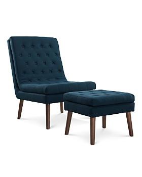 Modway - Modify Upholstered Lounge Chair & Ottoman