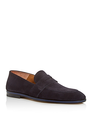 Boss Loafers MEN'S SAFARI SUEDE APRON-TOE PENNY LOAFERS