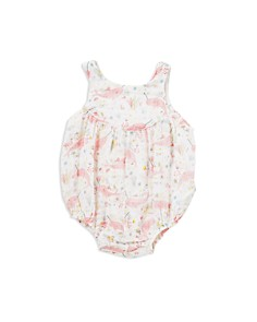 Angel Dear - Girls' Narwhal Print Bubble Romper - Baby