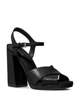 MICHAEL Michael Kors - Women's Alexia Leather Block Heel Sandals