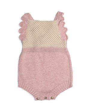 Tun Tun Girls Ruffle Knit Romper  Baby