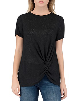 B Collection by Bobeau - Rachelle Twist-Front Tee
