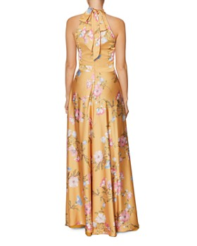 Laundry by Shelli Segal - Floral Halter-Neck Gown