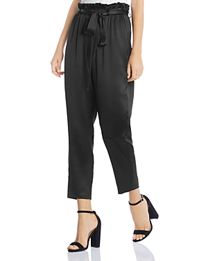 Tapered Paperbag-Waist Pants