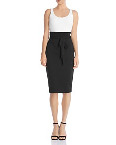 Bailey 44 - Color-Block Belted Sheath Dress