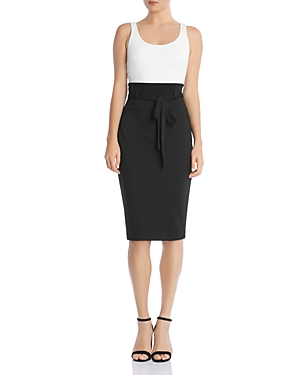 Bailey44 Dresses COLOR-BLOCK BELTED SHEATH DRESS