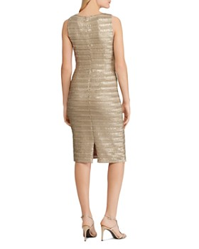 Ralph Lauren - Striped Metallic Sheath Dress