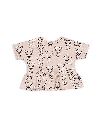 Huxbaby - Girls' Chihuahua Print Peplum Tee - Baby