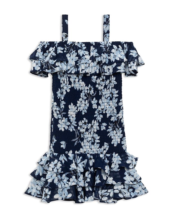 Bardot Junior - Girls' Lola Floral Print Cold-Shoulder Dress - Little Kid