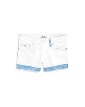 Ralph Lauren - Girls' Contrast-Denim Shorts - Big Kid