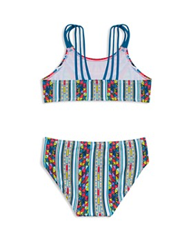 Gossip Girl - Girls' Printed Two-Piece Swimsuit - Big Kid