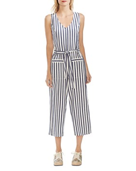 VINCE CAMUTO - Boardwalk Stripe Sleeveless Cropped Jumpsuit