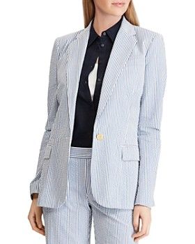 ce7329a6c Ralph Lauren - Seersucker One-Button Blazer ...