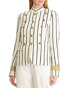 Ralph Lauren - Striped Military Jacket