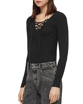 ALLSAINTS - Tamsin Lace-Up Sweater
