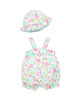Little Me - Girls' Paradise Overalls & Sun Hat Set - Baby