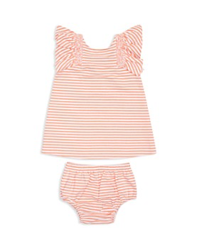 Habitual Kids - Girls' Aelicia Striped Ruffle-Sleeve Dress & Bloomers Set - Baby