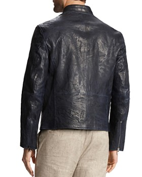 John Varvatos Collection - Burnished Leather Moto Jacket