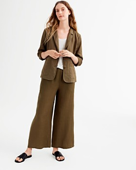 Eileen Fisher - Cropped Organic Linen Pants