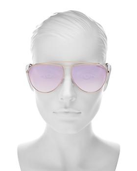 81f977d68f9b5 ... 63mm Tom Ford - Women s Brow Bar Aviator Sunglasses