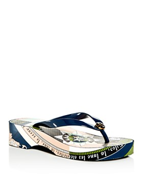 0fe39e37e Tory Burch - Women s Cut-Out Wedge Flip-Flops