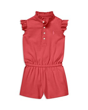 56479e88d Ralph Lauren - Girls  Eyelet-Trim Cotton Mesh Romper - Baby ...