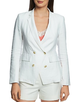 1.STATE - Double-Breasted Linen Blazer