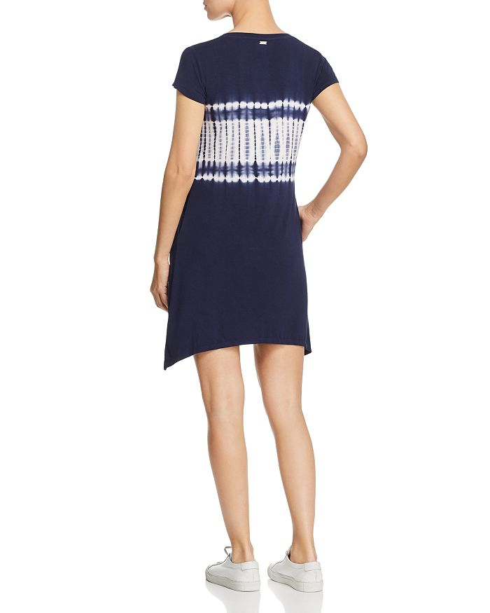New York Performance: Marc New York Performance Tie-Dyed Tee Dress In Midnight