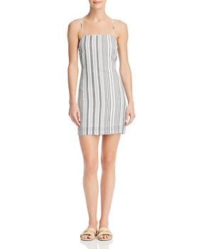 Re:Named - Tonya Striped Tie-Back Dress