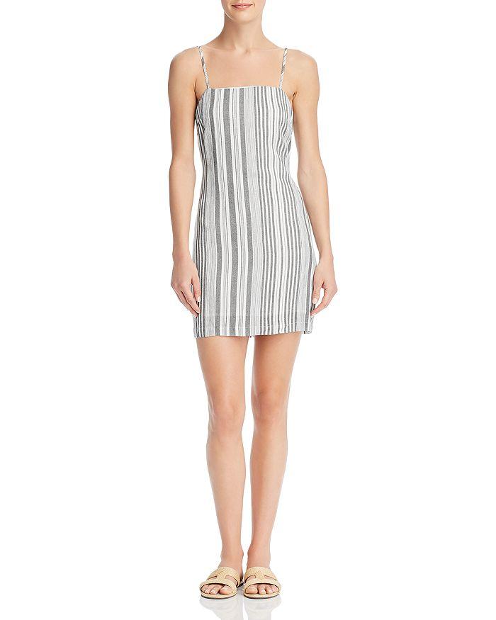 Re:Named - Tonya Striped Tie-Back Dress