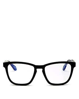 Quay Unisex Hardwire Square Screen Glasses, 55mm