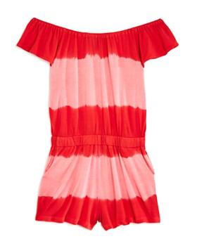 Splendid - Girls' Striped Tie-Dye Romper - Little Kid
