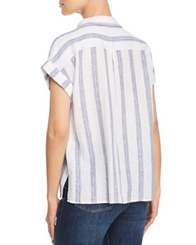 Velvet Heart - Short-Sleeve Striped Shirt
