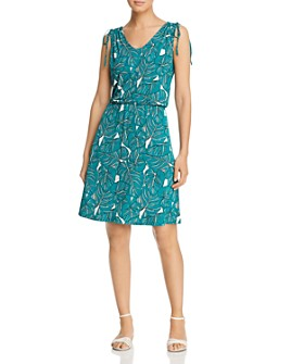 Leota - Tara Sleeveless Leaf-Print Dress
