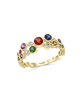 Bloomingdale's - Rainbow Sapphire & Diamond Band in 14K Yellow Gold - 100% Exclusive