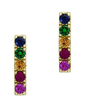 Bloomingdale's Rainbow Sapphire Stud Earrings in 14K Yellow Gold - 100% Exclusive