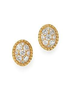 Bloomingdale's - Cluster Diamond Oval Earrings in 14K Yellow Gold, 0.50 ct. t.w. - 100% Exclusive