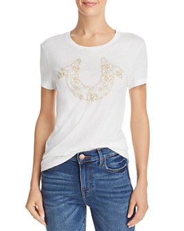 True Religion - Floral Horseshoe Graphic Tee