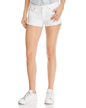 True Religion Joey Low-Rise Denim Shorts in White