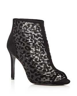 Charles David - Women's Cathie Leopard Mesh High-Heel Booties