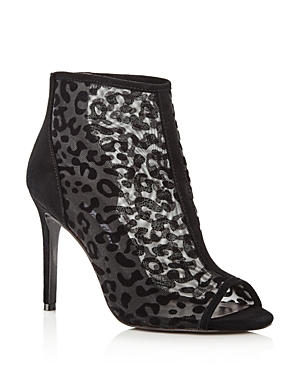 Charles David Boots WOMEN'S CATHIE LEOPARD MESH HIGH-HEEL BOOTIES