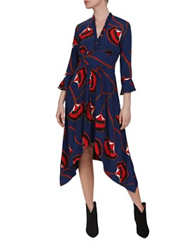 10179acb625 Ba sh - Lalie Ruffled Gingko Print Dress ...