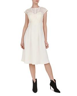ba&sh - Prima Lace-Bodice Midi Dress