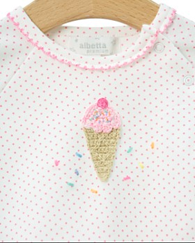 Albetta - Girls' Crochet-Ice-Cream Short Coverall - Baby