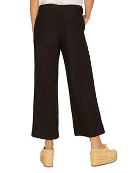 Sanctuary - Inland Linen Cropped Wide-Leg Pants
