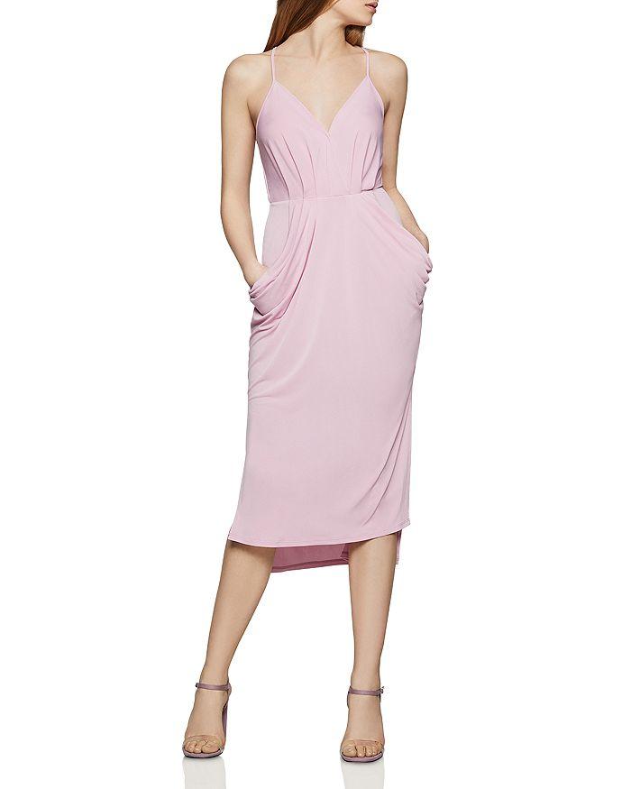 BCBGENERATION - Faux-Wrap Midi Dress