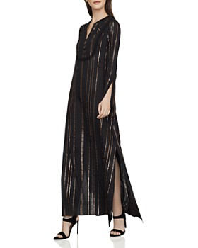 f4021a1f348 BCBGMAXAZRIA - Metallic-Stripe Caftan Maxi Dress ...