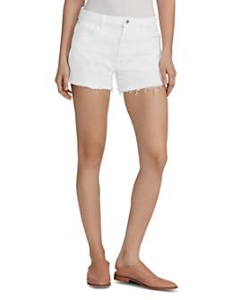 Ella Moss - Vintage High-Rise Denim Shorts in White